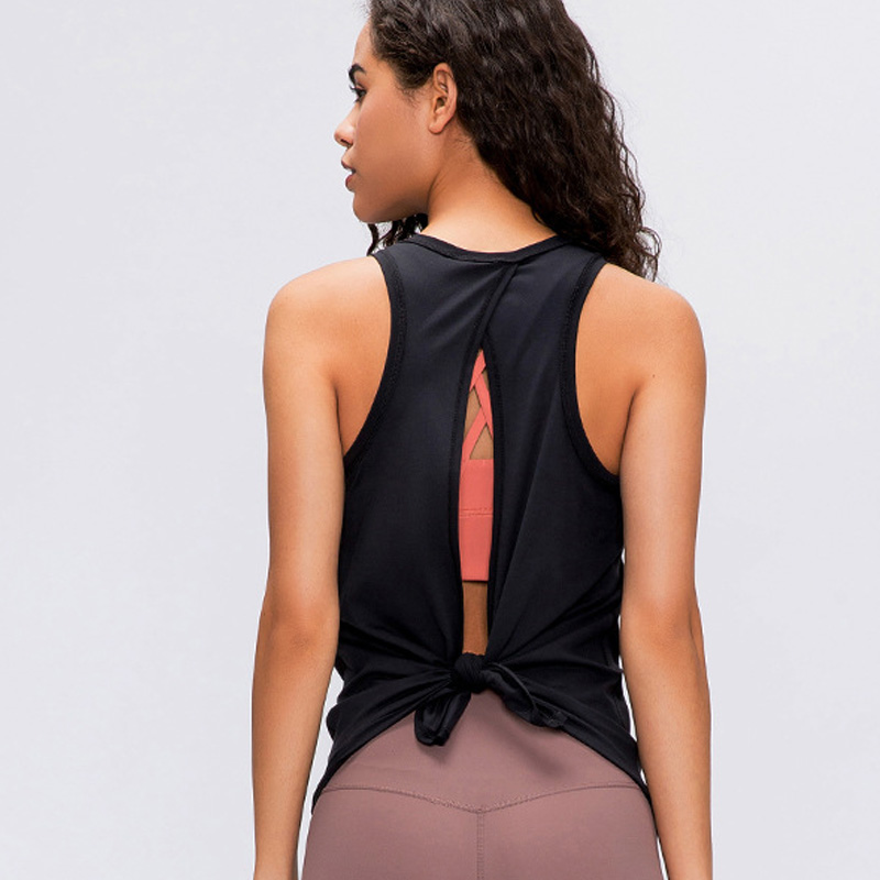 2020 Activewear Running Workouts Clothes Open Back Yoga Tank Tops Stretch Sexy Blouse Gym Tank Sleeveless Shirts Sports Crop Top