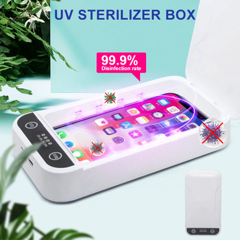 Portable UV Sterilizer Box Phones Cleaner Quick Disinfection for Personal Disinfection with UV Sterilizing Box 1200bt ultrasonic cleaner fuel injection uv fruits vegetables detoxification machine cleaner grape strawberry sterilizing