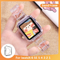 Новейшая модель; Ремешок для наручных часов Apple Watch, версии 6 SE 5 4 321 Прозрачная ПВХ-пленка для наручных часов Iwatch, браслет 38 мм 40 мм 42 44 мм ремеш...