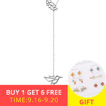New arrival 925 sterling silver cute animal bird and flower pendant chain necklace diy fashion jewelry making for women gifts