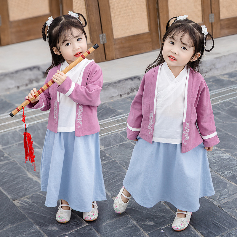 Childrenswear Children Chinese Costume BOY'S Suit Chinese-style Girls Chinese Clothing Ancient Costume Chinese Culture Service T