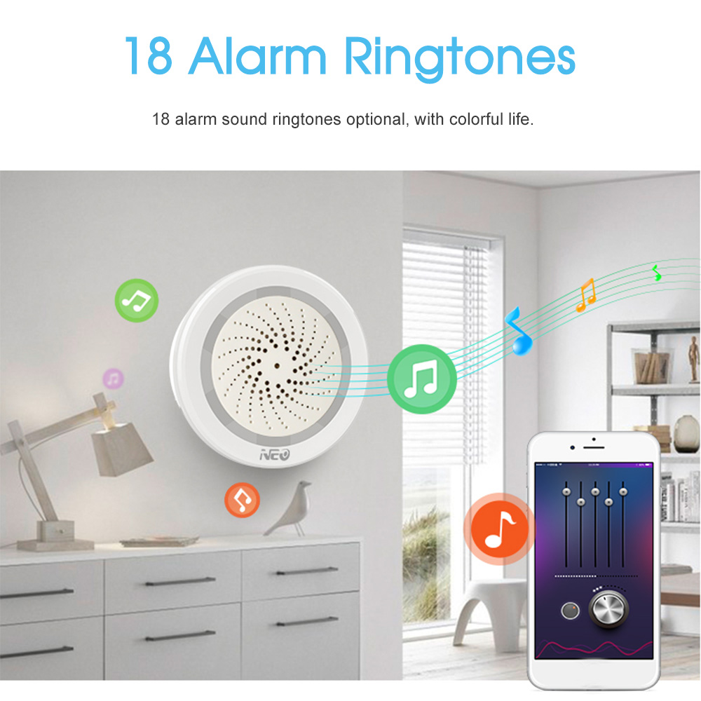 Image 4 - Wireless WiFi Siren Sensor Temperature Humidity Alarm smart tuya sirens with Amazon Google Home Assistant IFTTT-in Alarm Siren from Security & Protection