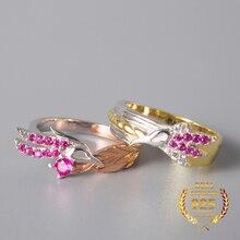 Anneaux amoureux pur 925 argent RAKAN et XAYAH jeu anneaux ligue des héros bijoux créatifs cadeaux saint valentin