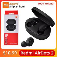 NEW Original Xiaomi Redmi Airdots 2 True Wireless Bluetooth 5.0 TWS earphone Voice control With Mic Handsfree Earbuds AI Control