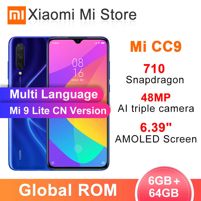 """在庫グローバル ROM シャオ mi mi CC9 6 ギガバイト 64 ギガバイトの携帯電話 (9 lite) snapdragon 710 6.39 """"スクリーン 48MP + 32MP カメラ 4030 mah バッテリ"""