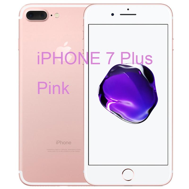 Разблокированный Apple iPhone 7/iPhone 7 Plus четырехъядерный мобильный телефон 12,0 МП камера 32G/128G/256G Rom IOS Телефон с отпечатком пальца - Цвет: iphone 7 Plus Pink