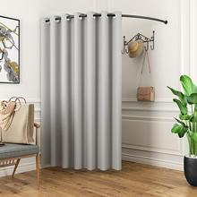 Iron clothing circle display rack clothing store changing room cloth curtain fitting room door curtain thickening