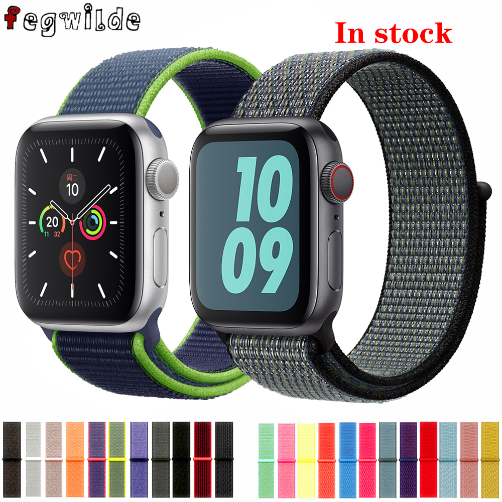 Sport Loop Strap For Apple Watch Band 44 Mm 40mm Iwatch Band 42mm 38mm Nylon Bracelet Watchband Correa Apple Watch 4 5 3 38 Mm