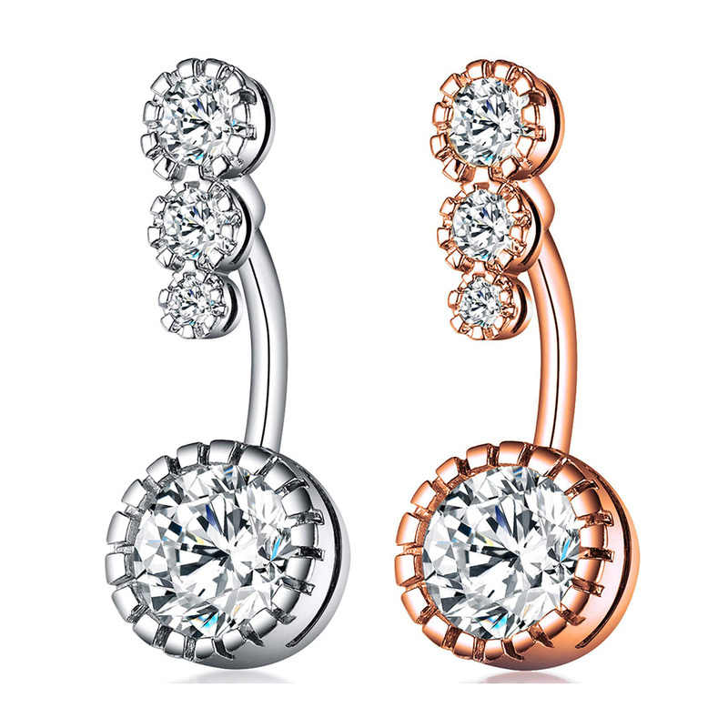 Kristal Cincin Pusar Bar Barbel DROP Menjuntai Tindik Tubuh Bedah Nombril Ombligo Perut Tombol Cincin Wanita Perhiasan Tubuh