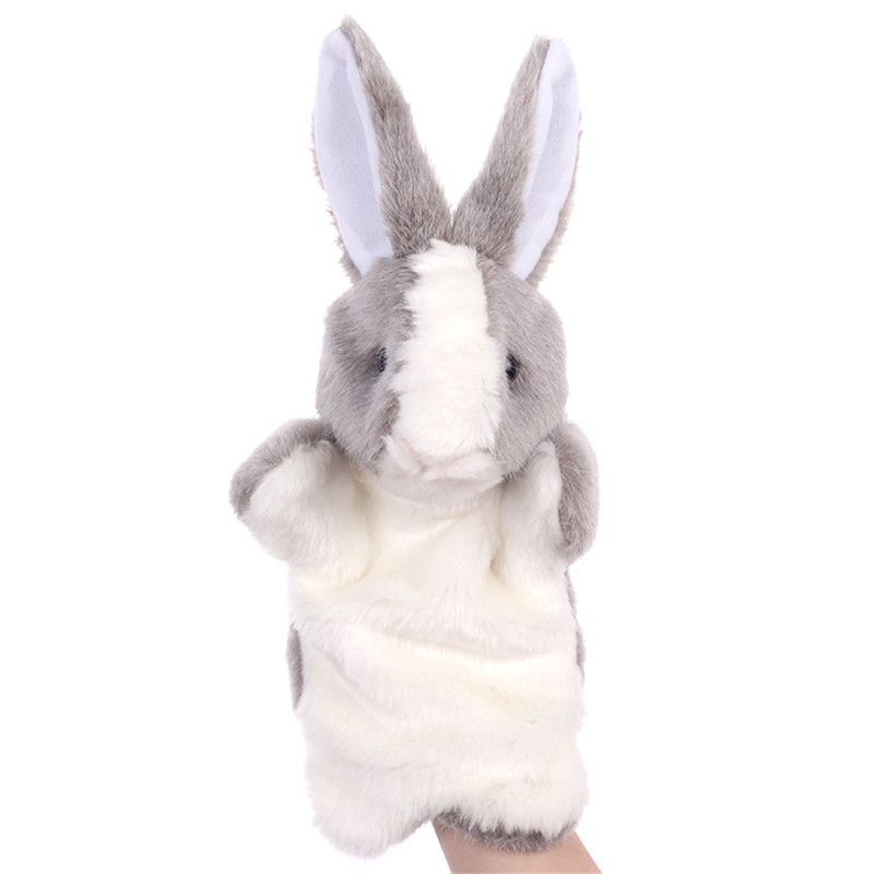 Children's Hand Puppet Cute Bunny Rabbit Toys Early Education Dolls Parent-child Interaction Spot Mixed Batch Cross-border Toys