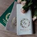 Индивидуальные деревенские салфетки с любым языковым именем и цветным логотипом, персонализированные бумажные салфетки на свадьбу, день р...