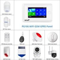 3G Großen Touchscreen GSM WiFi Home Alarm System DIY Kit Solar IP Kamera Unterstützung App Control RFID karte outdoor kamera