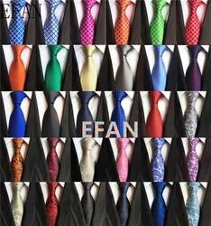 New Classic 8cm Tie for Man 100% Silk Tie Luxury Solid Plaid Dots Business Neck Ties for Men Suit Cravat Wedding Party Necktie