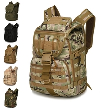 цена на Military Tactical Camouflage Backpack Camping Hiking Climbing Trekking Rucksack Travel Outdoor Men Travel Bags