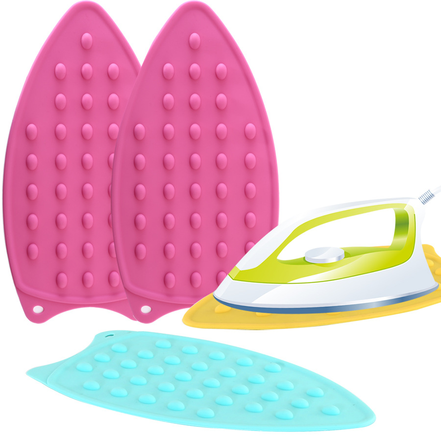 1PC Silicone Iron Hot Protection Rest Pad Mat Safe Surface Iron Stand Mat Rest Ironing Pad Insulation Boards