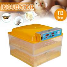 Full Automatic Egg Incubator Brooder Farm Hatchery Machine 112 Egg Hatcher Poultry Chicken Goose Bird Automatic Egg Incubator