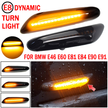 Dynamic LED Fender Light Side Marker For BMW E60 E61 E90 E91 E81 E84 E88 E92 E93 E82 E46 1 3 5 series x1 2004 2010 flasher image