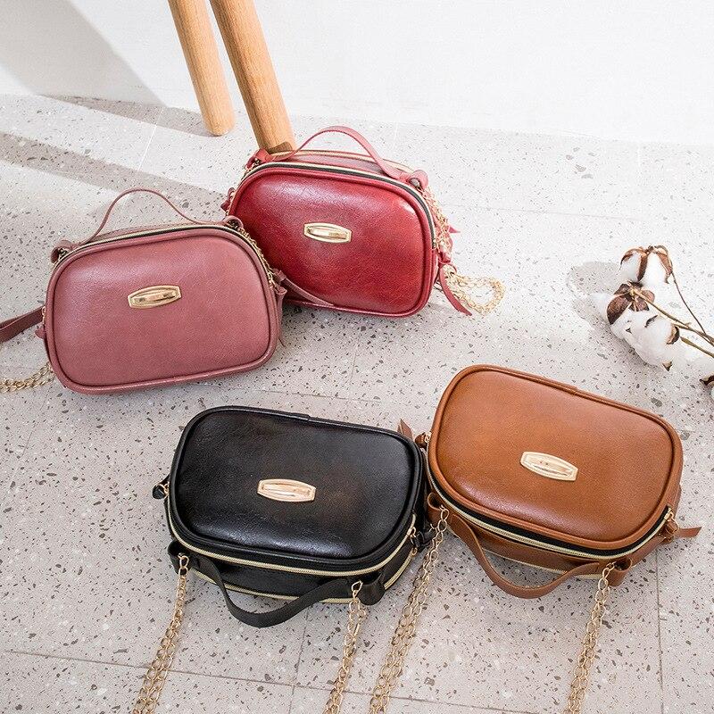 New Grace Women Fashion Bag Solid Color High Quality Handbag Luxury Messenger Bag Soft Pu Leather Shoulder Ladies Crossbody Bags