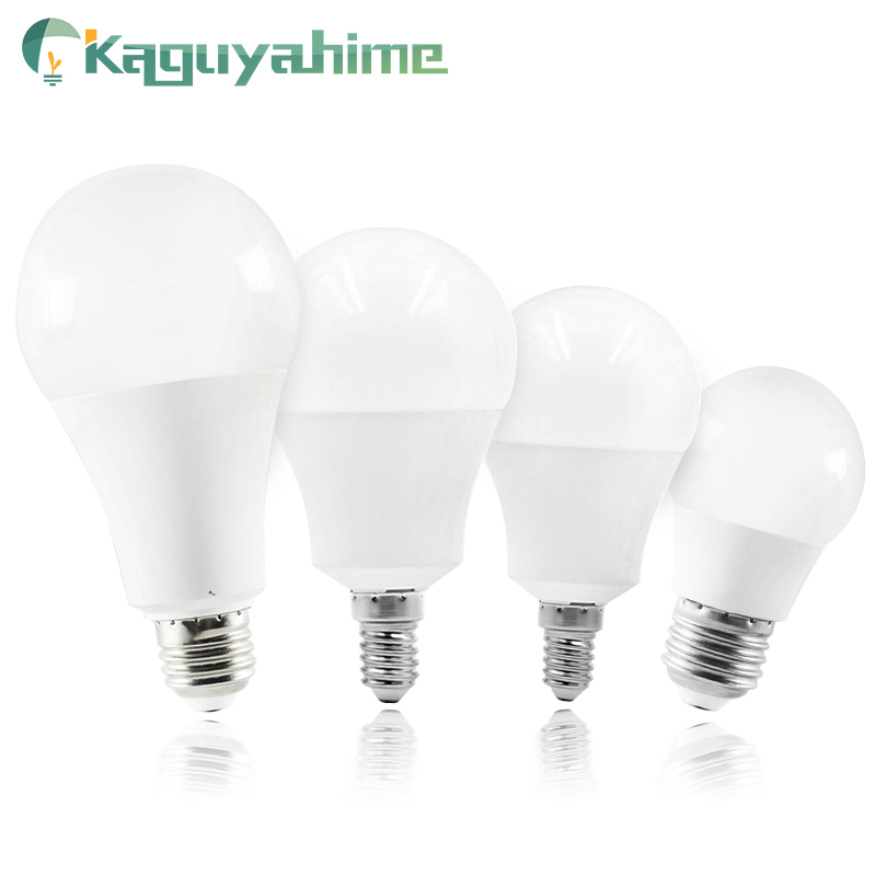 Kaguyahime LED E14 LED Light E27 LED Bulb 20W 15W 12W 9W 6W 3W AC 220V 240V LED Spotlight Table Lamp Bombilla Lighting Lampada