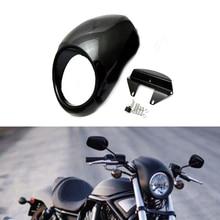 цена на Motorcycle Head light Mask Fairing Bezel Front Cowl Visor Fork Accessories For Harley Sportster Dyna XL 883 1200 XL883 XL1200