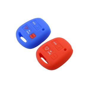 Image 5 - Okeytech 실리콘 자동차 키 커버 쉘 포브 도요타 avensis 캄리 corolla rav 원격 키 케이스 2 + 1 버튼 렉서스 키 케이스에 적합