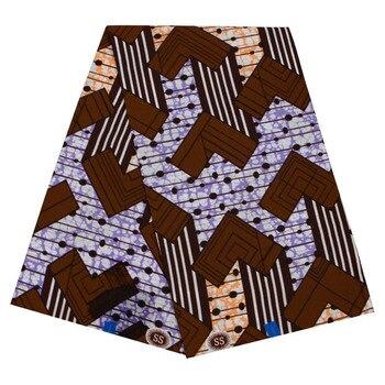 Wax Africain Nigeria prints fabric real Cloth wax for women dress material Ankara tissu 6yards best quality fabric 2020 african wax batik prints fabric 100% cotton ankara kente real nigeria wax fabric best quality for dress 6yards
