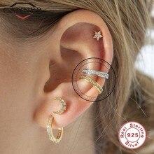 CANNER – boucles d'oreilles en argent Sterling 925 pour femmes, Clip, Zircon, sans Piercing, bijoux