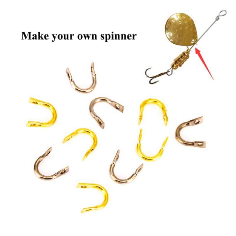 50 шт. Easy-Spin Clevises Spinner легкое кручение латунь DIY рыболовные приманки рыболовные снасти 2019