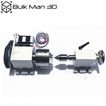 4th Axis dividing head 6:1 Rotation Axis cnc rotary axis chuck 80mm activity tailstock for CNC Router Engraver Milling Machine 4 axis cnc 6040 z s80 engraver router milling lathe machine with rotary axis and 1 5kw spindle four axis cnc6040 for 3d cnc