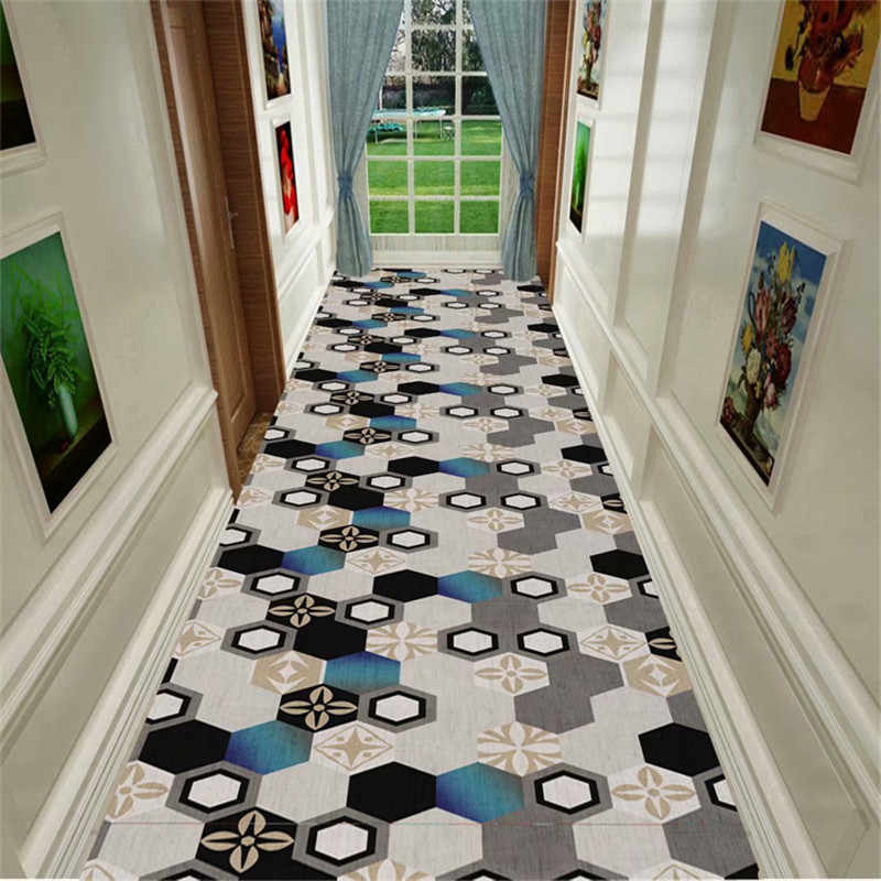 European Style Solid Color Long Hallway Carpets Hotel Runners   Solid Color Stair Runners   Non Slip   Rectangle   Rubber Backed   Modern Stair   Flooring