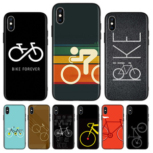 Bicycle Bike Sport Coqu Black Back Cover Phone Case For Apple IPhone 11 Pro XS MAX XR 7 8 6 6S Plus X 10 Ten 5 5S SE Coque Shell(China)