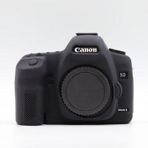 Силиконовый кожаный чехол для брони, защитный чехол для корпуса Canon EOS 5D Mark II 2 5DII 5D2, только для цифровых зеркальных камер