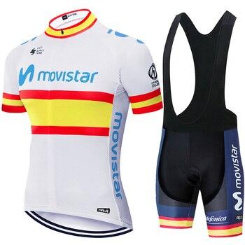 Ropa de ciclismo movistar pro, jersey de secado rápido para ciclismo, ropa...