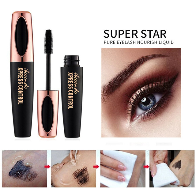 4D Silk Fiber Lashes Mascara Waterproof Mascara for Eyelash Extension Black Thick Lengthening Eye Lashes Makeup Korean Cosmetics 4