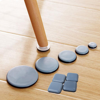 Self Adhesive Rubber Slider Pad Furniture Chair Bases Leg Feet Pads Cabinet  Buffer Bumper Stop Cushion Table Corner Protector