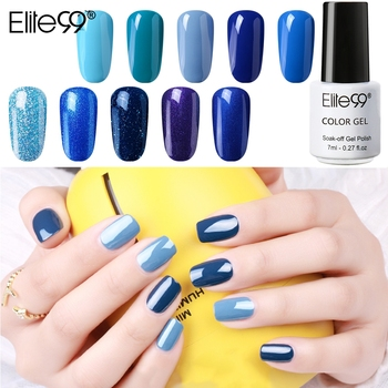 Elite99 Blau Serie Gel Nagellack UV LED Semi- Permanent Element Matte Top Mantel Keine Wischen Top Basis Mantel nail art Maniküre 7ML