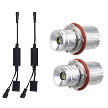 For BMW E39 E53 E60 E61 E63 E64 E65 E66 E87 525i 530i xi 545i M5 40W  Error Free LED Angel Eyes Marker Lights Bulbs 40w xenon white headlight led marker angel eyes halo light bulb for bmw e87 e39 m5 e60 e61 e63 e64 m6 e65 e66 x3 e83 x5 e53