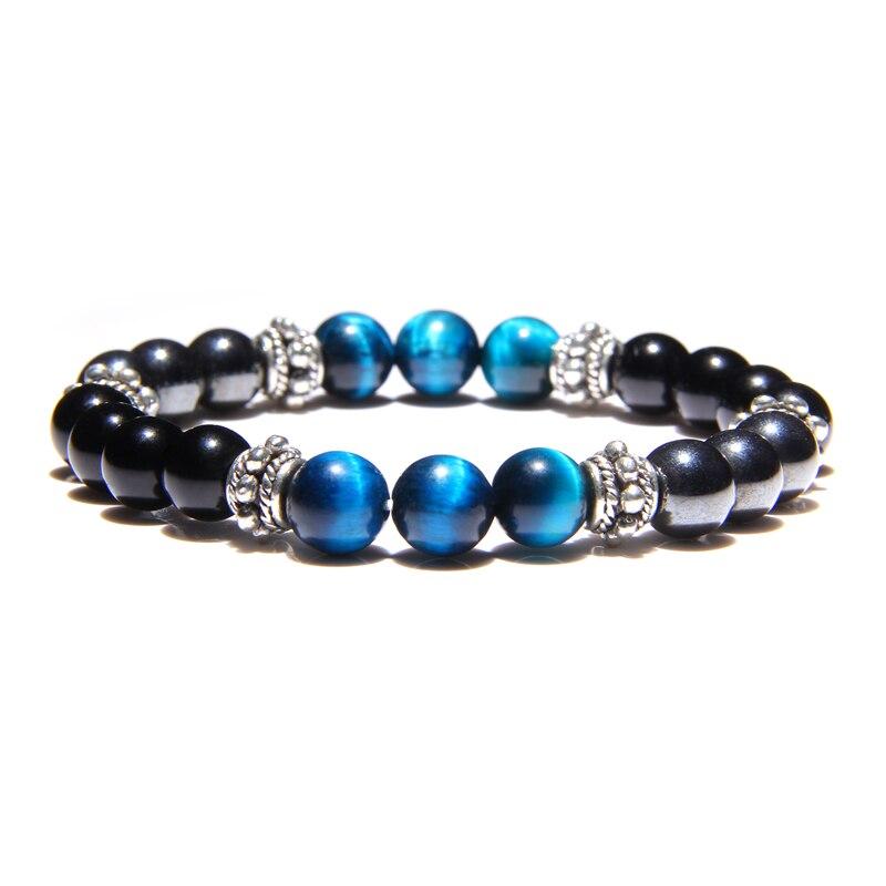 Natural Stone Bracelets Men Women Bracelets Tiger Eye Beads Braslet for Man Women Handmade Casual Jewelry hommes bijoux