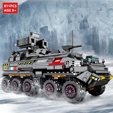 811Pcs Wandering Earth CN171 Troop Carrier Building Blocks Military Armored Personnel Vehicle Playmobil Bricks Brinquedos Toys enlighten military series troop carrier building blocks set bricks construction toys for children gift 811 legoegoly