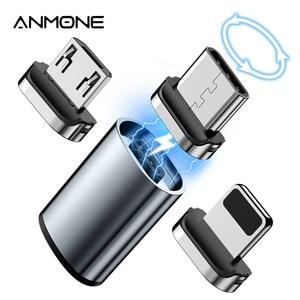 Enchufe de Cable magnético Micro USB tipo C, convertidor de Cable, adaptador de cargador magnético, Conector de carga para Xiaomi Mi 9, Redmi Note 10