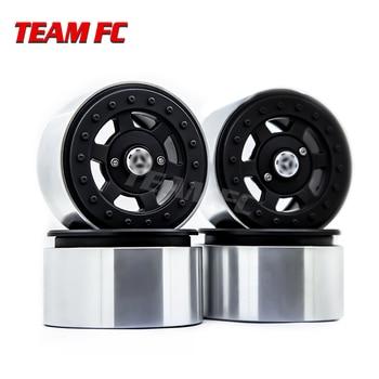 4PCS Metal 2.2 Beadlock Wheel Rim Hub for 1/10 RC Rock Crawler Axial SCX10 90046 RR10 Wraith TRAXXAS TRX4