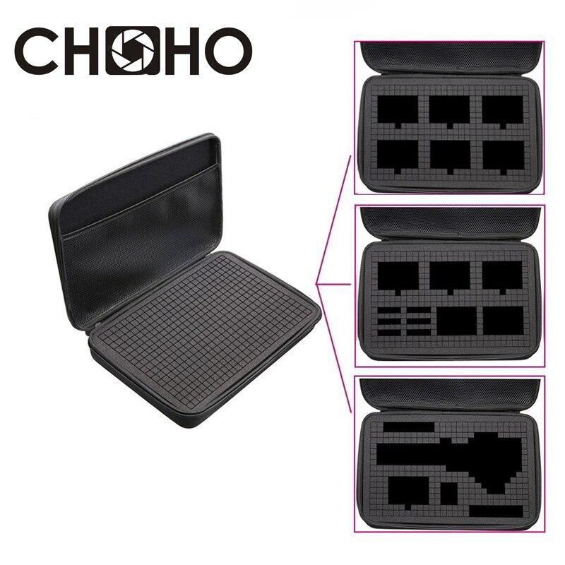Bag Case DIY Travel Storage Collection Foam Portable Shockproof For Gopro 8 7 Xiaomi Yi SJCAM Dji Osmo Pocket Camera Accessories