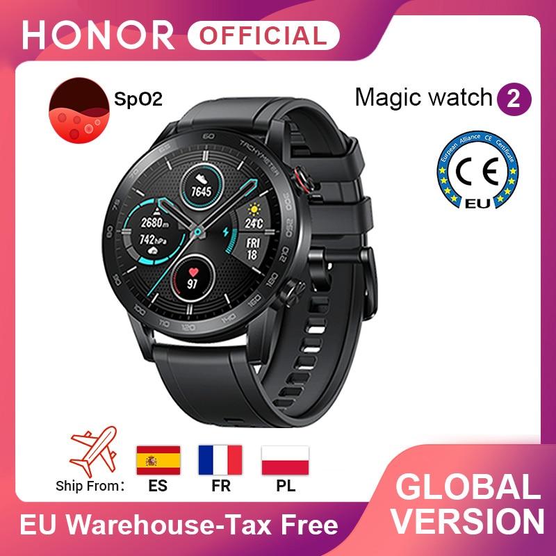 In Stock Global Version Honor Magic Watch 2 Smart Watch Bluetooth 5.1 Smartwatch Blood Oxygen 14 Days Waterproof MagicWatch 2|Smart Watches| - AliExpress