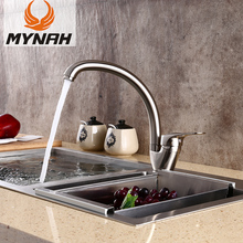 MYNAH Kitchen Sink Faucet Mixer Cold And Hot Single Handle Swivel Spout Water Taps Faucets