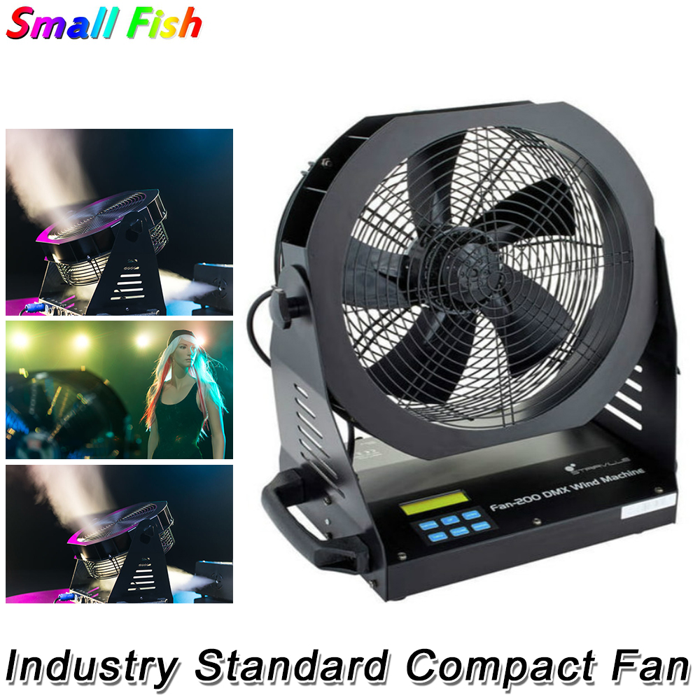 Stage Special Effect DMX Fan 200W Industry - Standard Fan Compact Fan DMX / Wireless Remote Control For Bubble / Smoke Machine