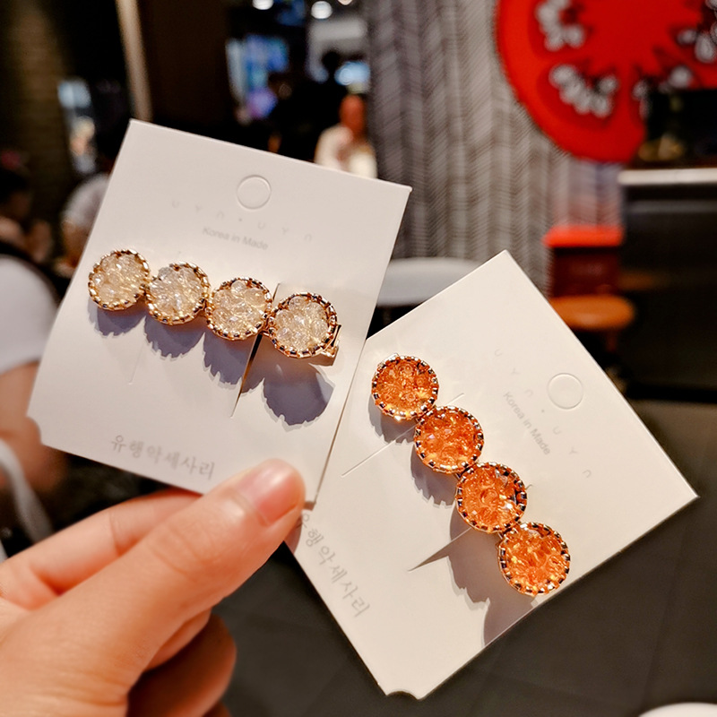Xugar 2Pcs/Set Fashion Girls Rhinestone Beads Hair Clips Diamond Hairpins For Girls Crystal Barrettes Womens Hair Accessories