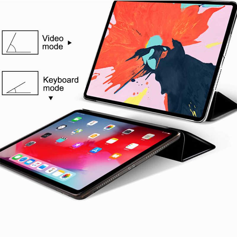 Case untuk Samsung Galaxy Tab 10.1 Inci (2019) t510 SM-T510 SM-T515 Flip Lipat Tiga Stan PU Kulit Penuh Otomatis Bangun Pagi Cover