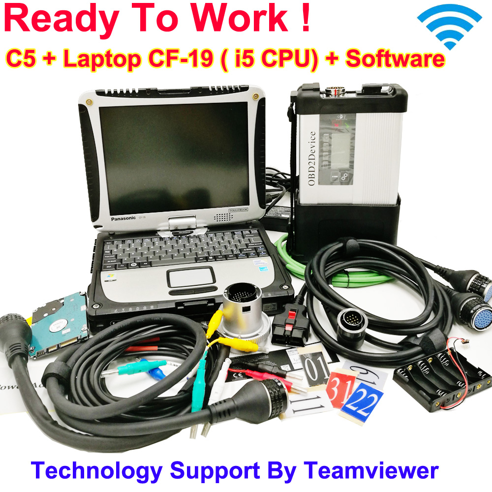 MB Star C5 2020 SD Connect C5 with newest software 2020 06 diagnostic tool mb star c5 vediamo X DSA DTS with CF19 Laptop