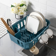 Nordic Style Cutlery Storage Rack Dishes Plastic Drain Holder Tray  Kitchen Multifunctional Tool Shelf Organizer