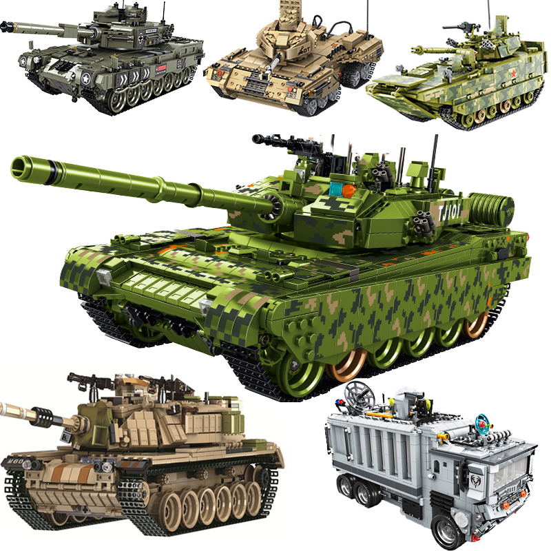 Military Series Legoing Technic Tank Truck Creator Genuine Changing Airport Fire Warship Set Building Block Bricks Toy For Kid